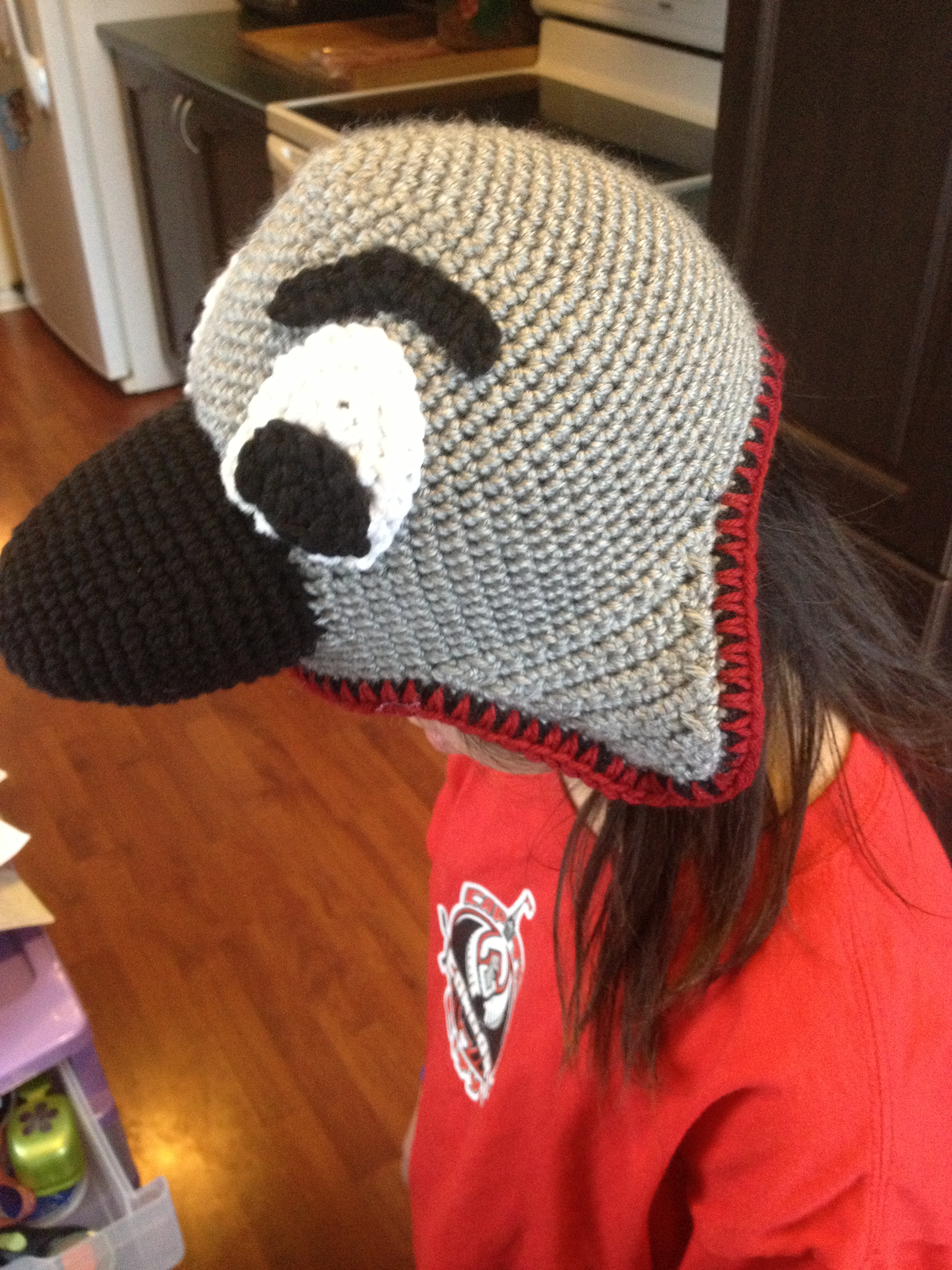 Condors Crocheted Hat Side View